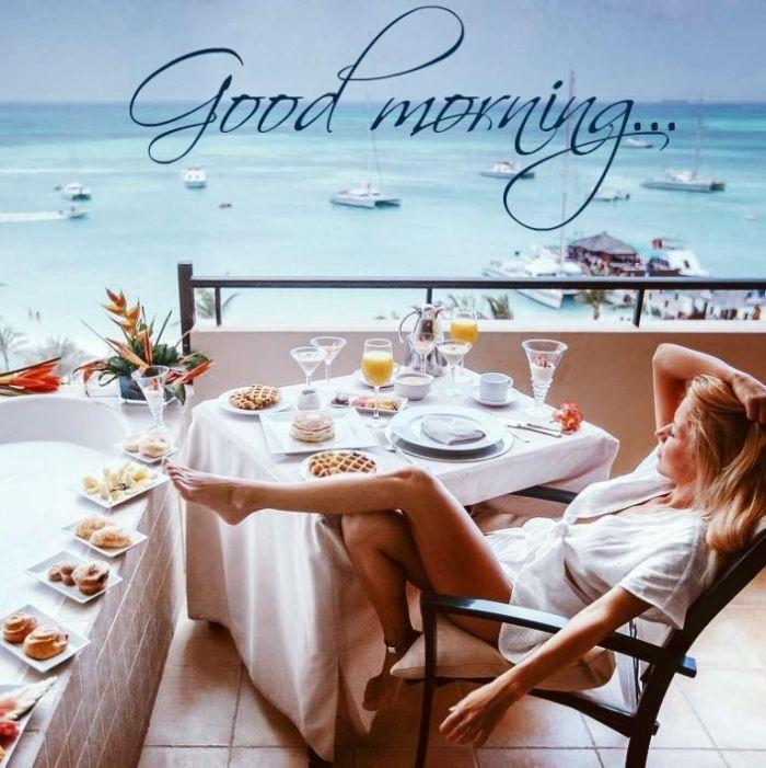 доброе утро картинка с морем