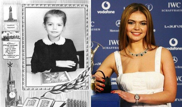 Алина Кабаева в детстве и сейчас фото