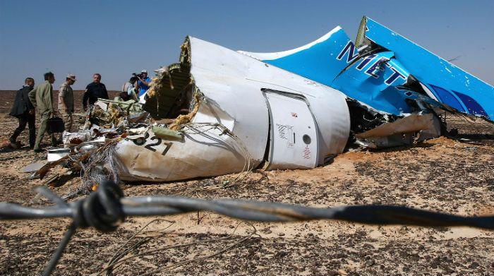 Фото с места падения Airbus A321 на Синайском полуострове (Египет)