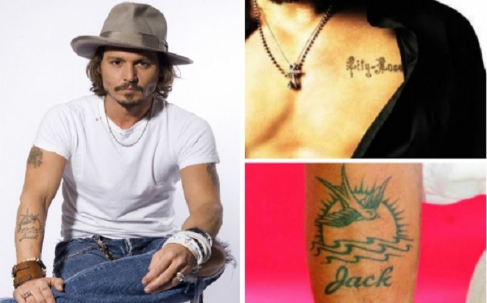 татуировки Джонни Деппа в честь детей фото