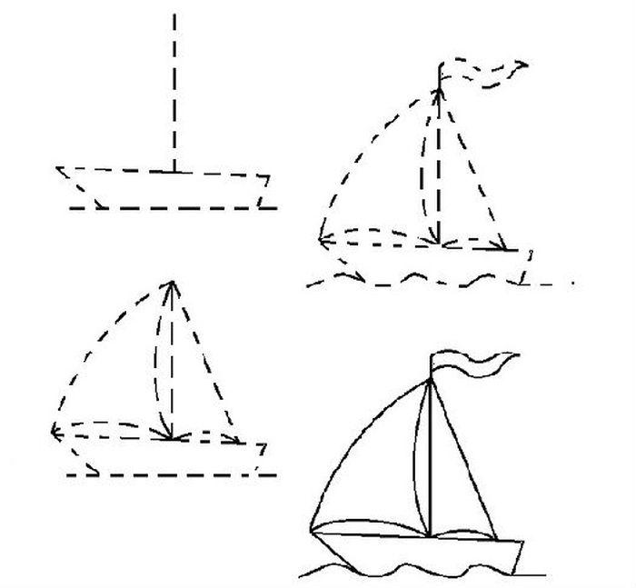 Дорисовать кораблик фото