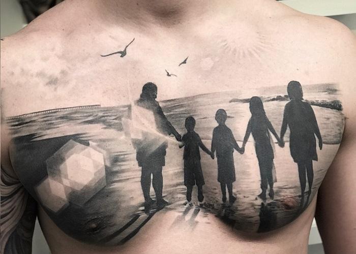 семейное тату 2 фото