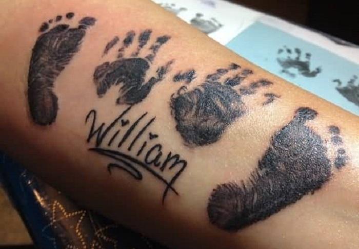 отпечатки рук и ног тату фото