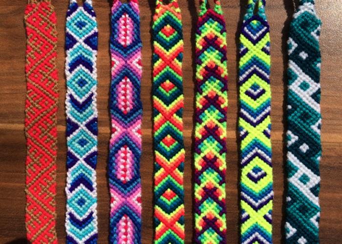 Закладки плетеные фото