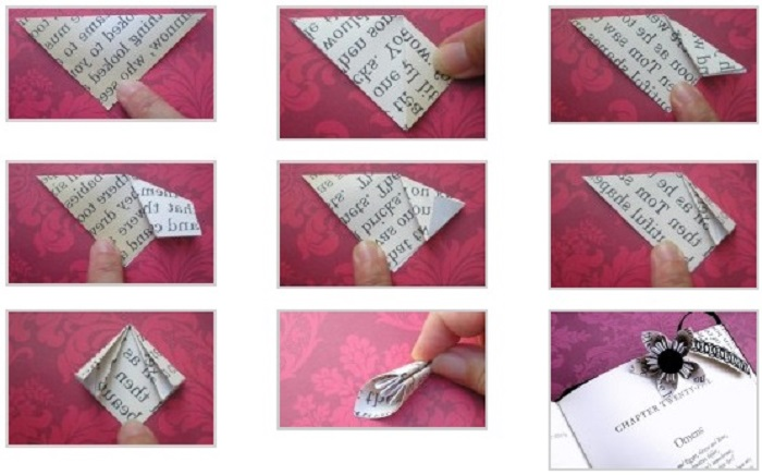 Закладки оригами фото