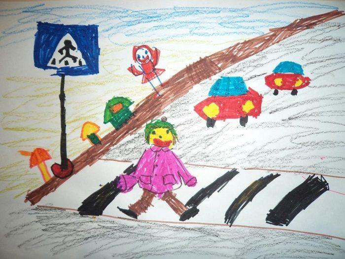Картинка по ПДД для детского сада
