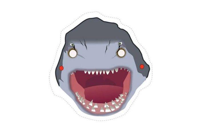 Маска акулы на голову