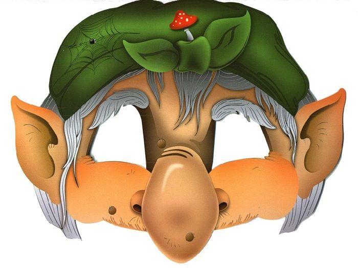 Маска бабы Яги на голову