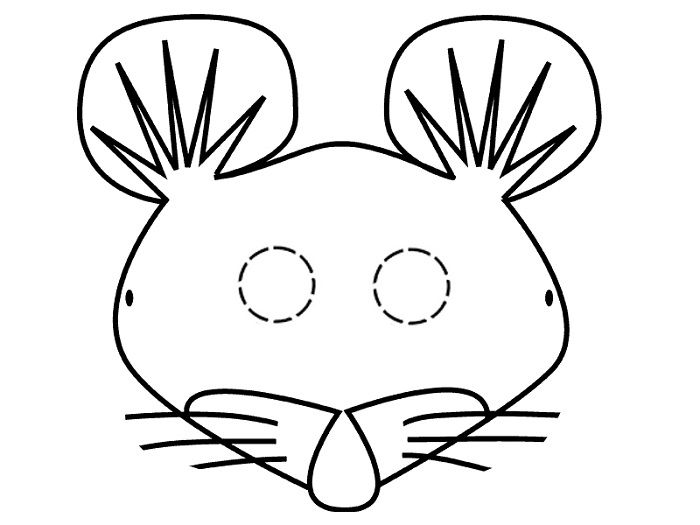 Маска крысы на голову