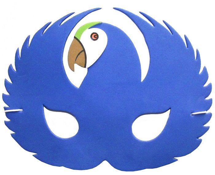 Маска попугая на голову