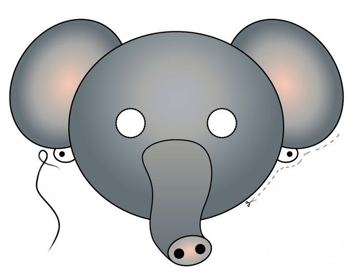 Маска слона на голову