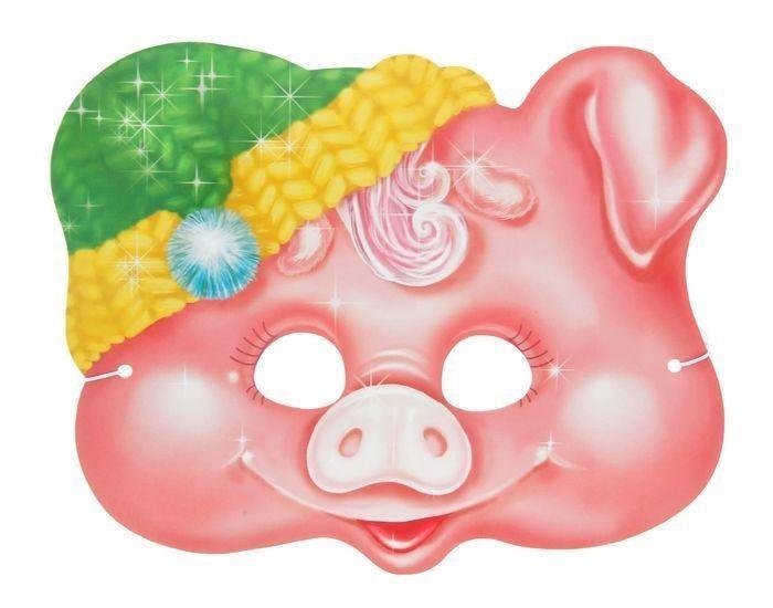 Маска свиньи на голову