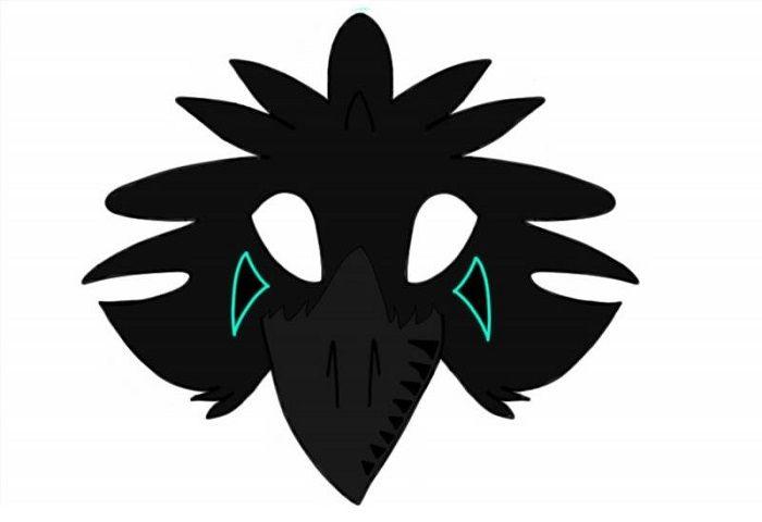 Маска ворона на голову