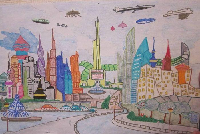 Плакат Дорога будущего в городе