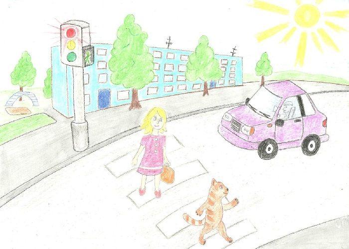 Плакат на тему Юный пешеход