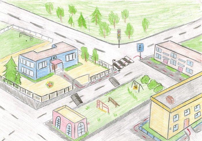 Плакат по теме Путь в школу