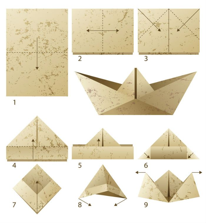простая техника оригами фото