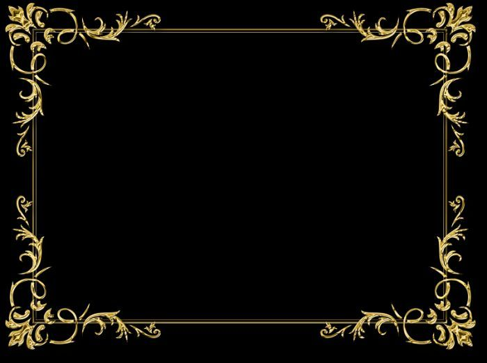 Золотые рамки фото