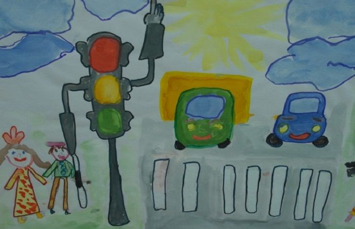 Рисунки по ПДД для дошколят