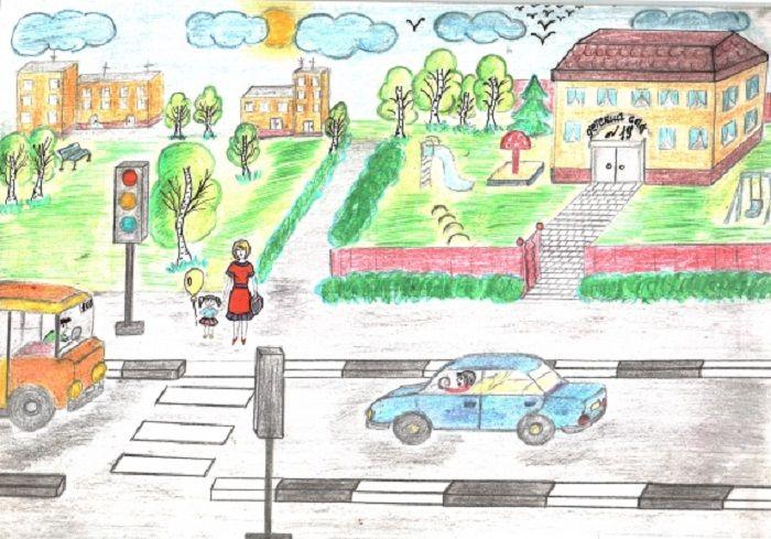 Рисунки про ПДД для 4 класса