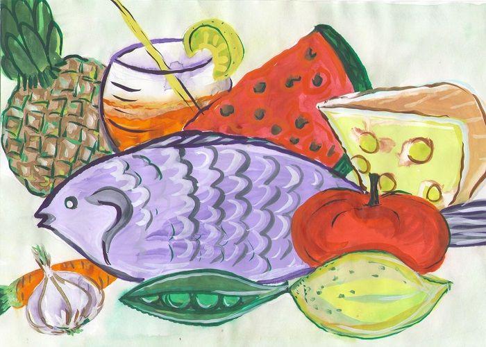 Рисунки про правильное питание