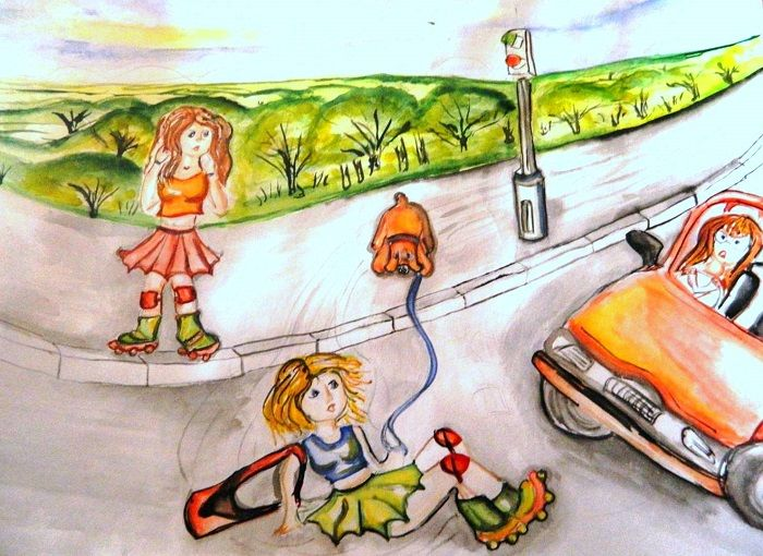 Рисунок на тему Водитель