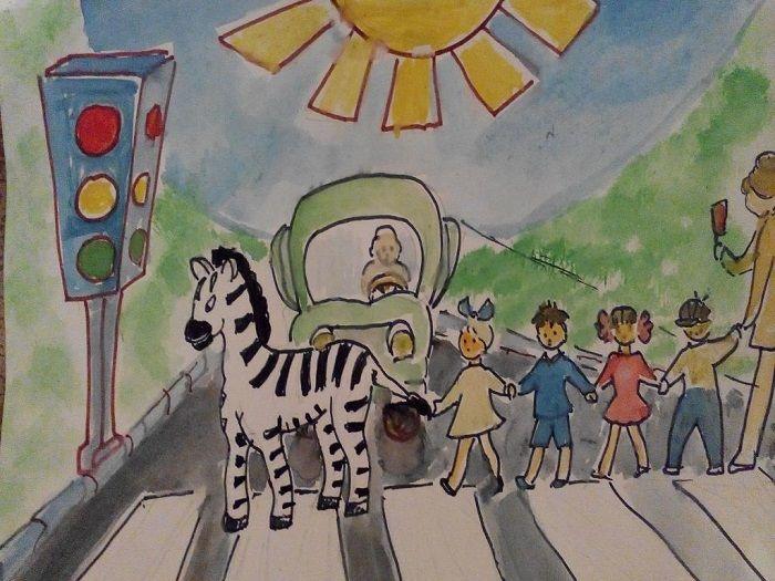Рисунок на тему зебра
