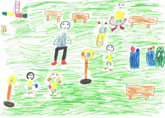Рисунок про ЗОЖ для детского сада