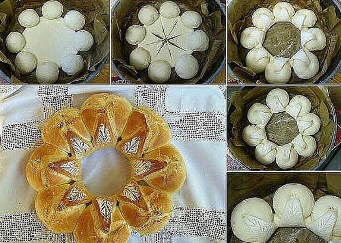 Пирог цветком фото