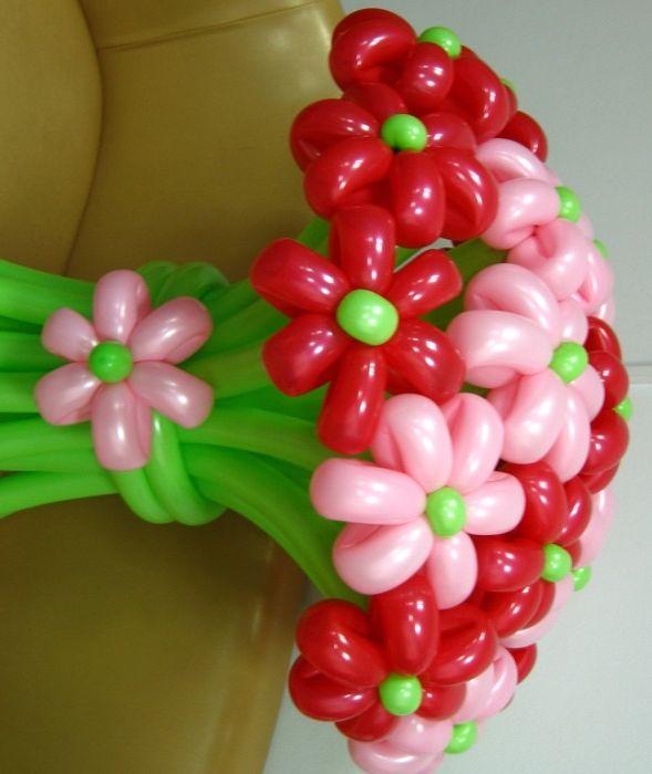 Цветы из шаров фото