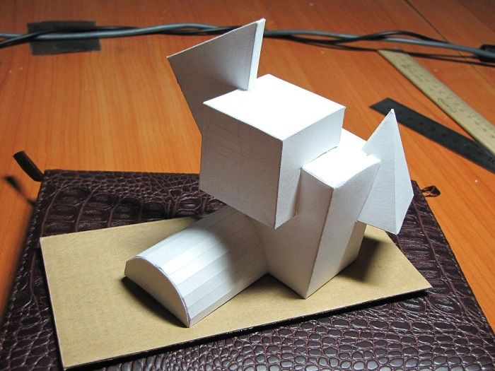Бумажные геометрические фигурки