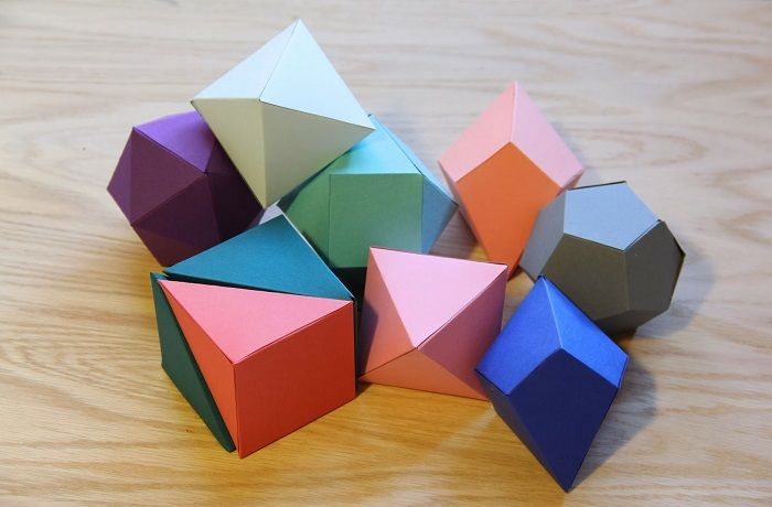 Геометрические фигуры из бумаги