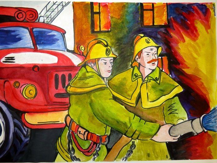 Картинка с пожарным
