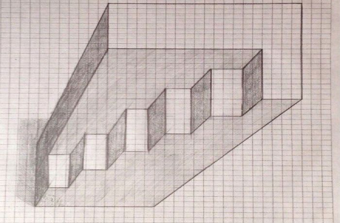лестница клеточка - 6