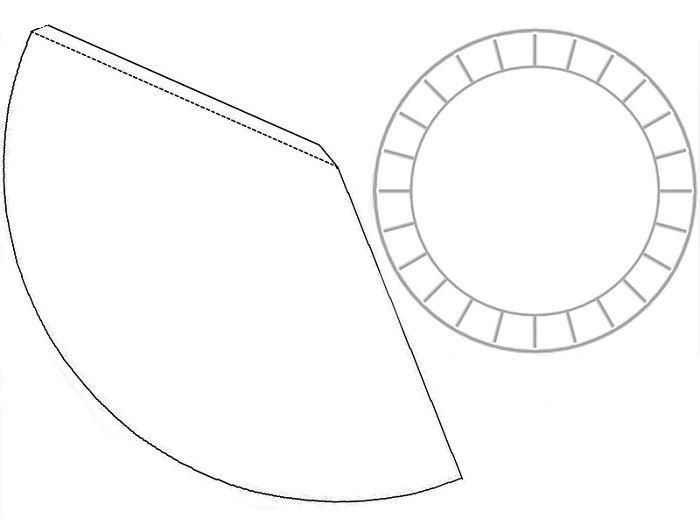 Макет конуса из бумаги