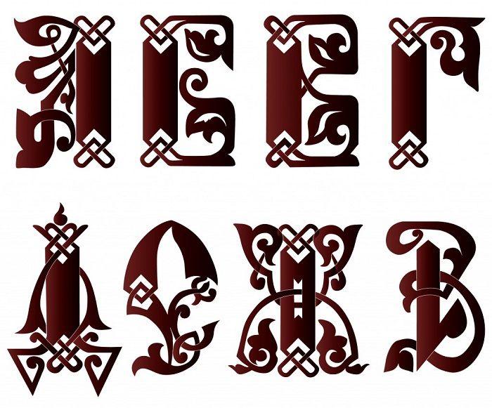 красивые буквы фото
