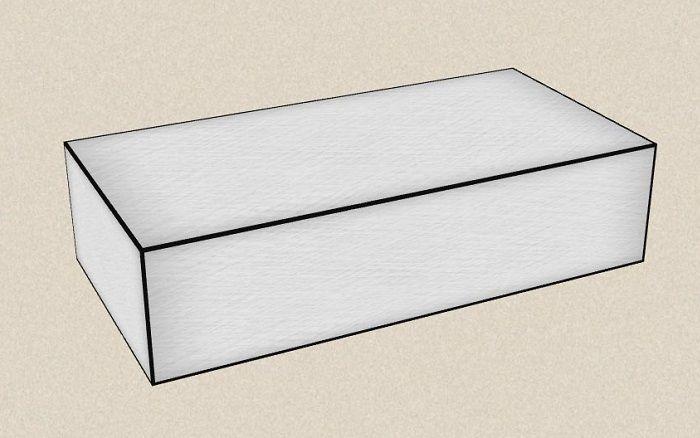Объемный прямоугольник