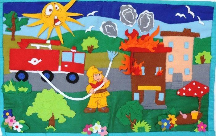 Поделки по пожарной безопасности  из фетра