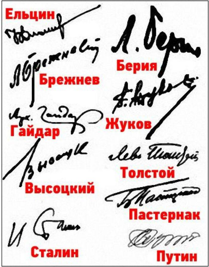 Подписи знаменитостей фото