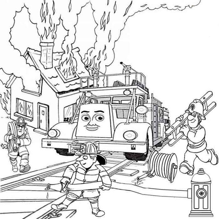 Раскраски на тему пожарной безопасности