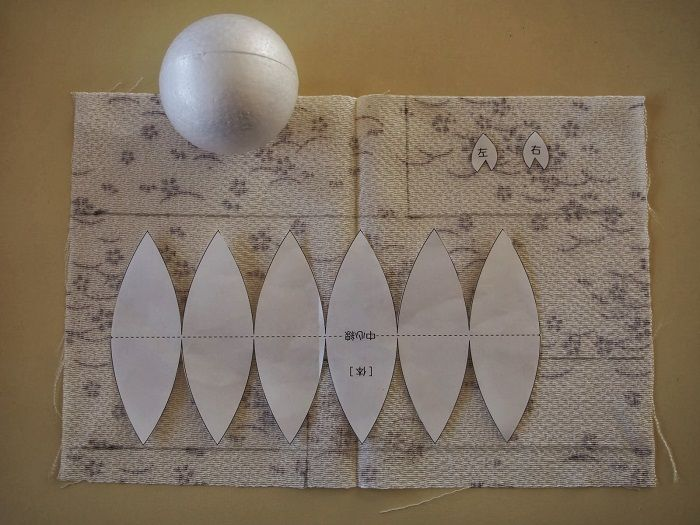 Развертка шара из бумаги