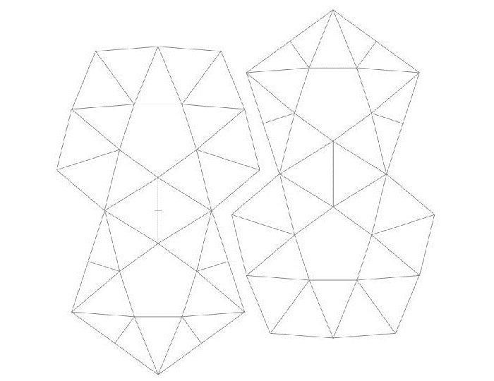 Развертки фигур из треугольников