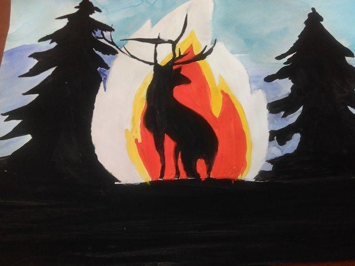 Рисунок: Берегите лес