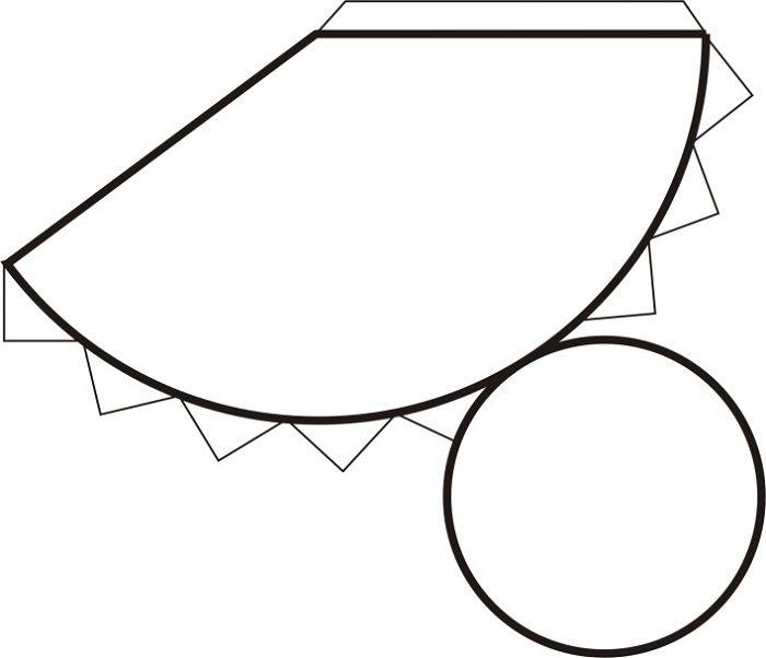 Шаблон конуса из бумаги