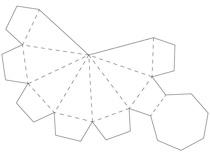 Шаблон объемной пирамиды
