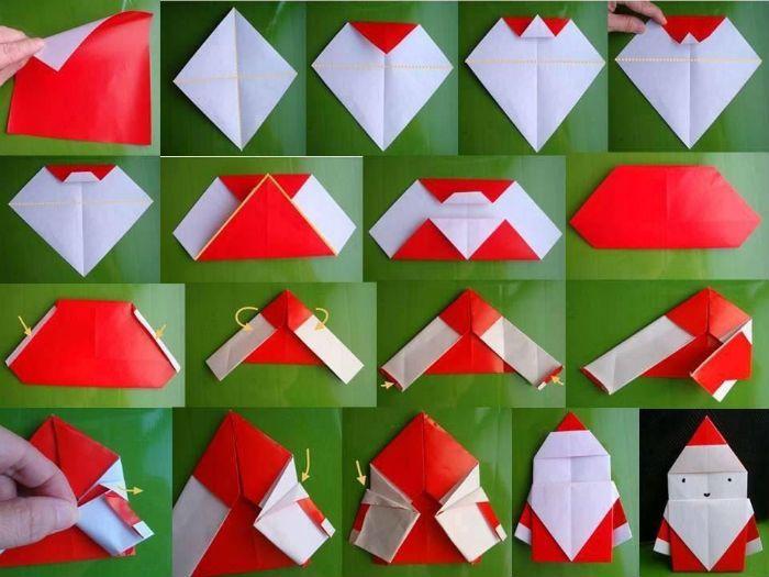 Дед Мороз оригами фото