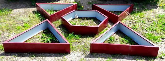 треугольная грядка фото