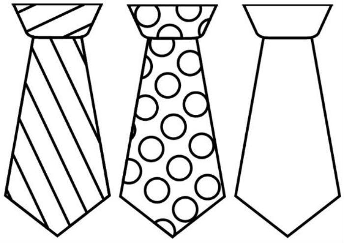 Шаблон галстука фото