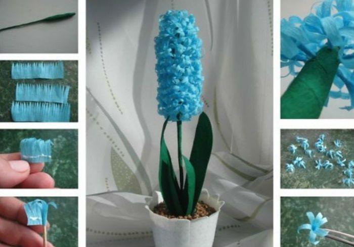 Схема изготовления цветка гиацинт фото