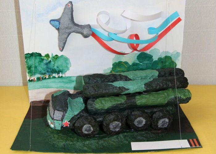 Военная техника из пластилина фото